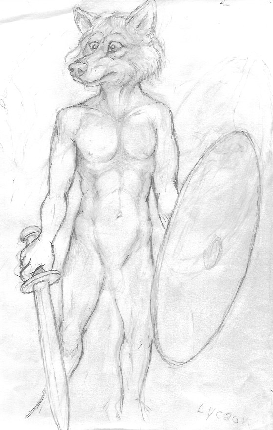 Warrior Wolf W.I.P. by CosmoCoyote