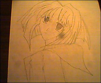 Chibi Vampire Karin Line Work by ChibiVampireFan68493