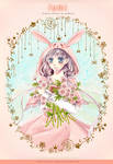 : Rabbit and Flowers :