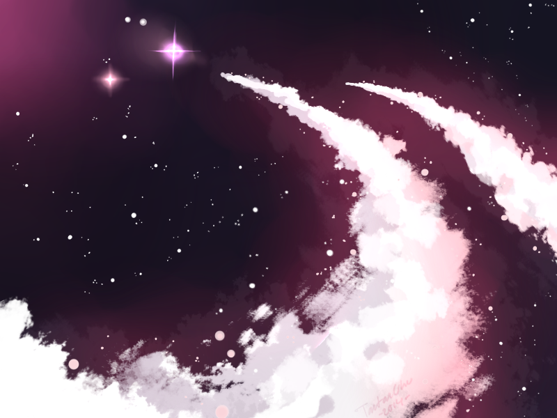 Galaxy Clouds by TantanChu