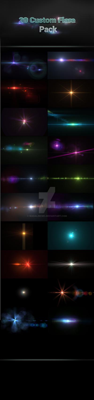 20 Custom Lens Flares Pack by madalincmc