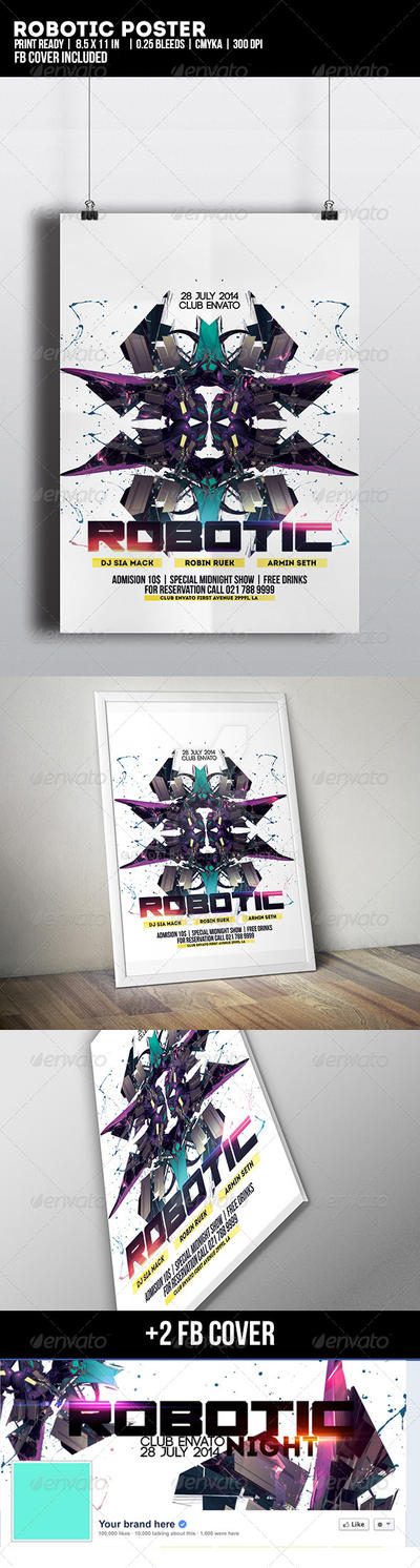 Robotic Poster by madalincmc