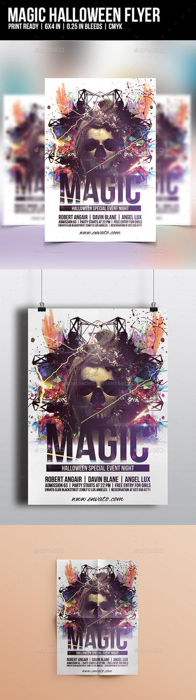 Magic Halloween Flyer Template by madalincmc