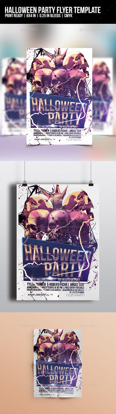 Halloween Party Flyer Template by madalincmc