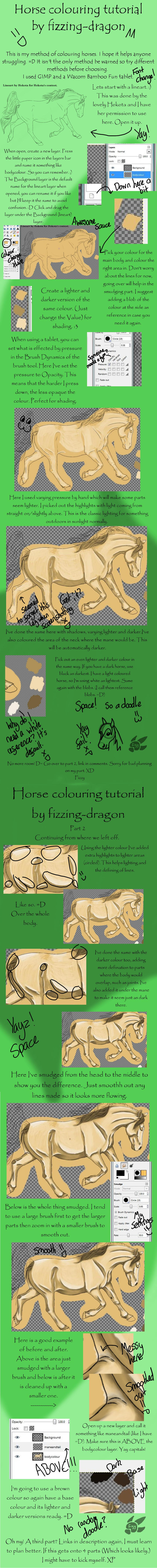 Horse colouring tuto- Part 1 by fizzing-dragon