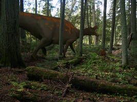 Lambeosaur in the woods by pheaston