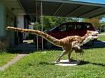 Deinonychus sculpture