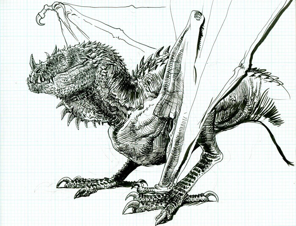 Dragon for some reason by pheaston
