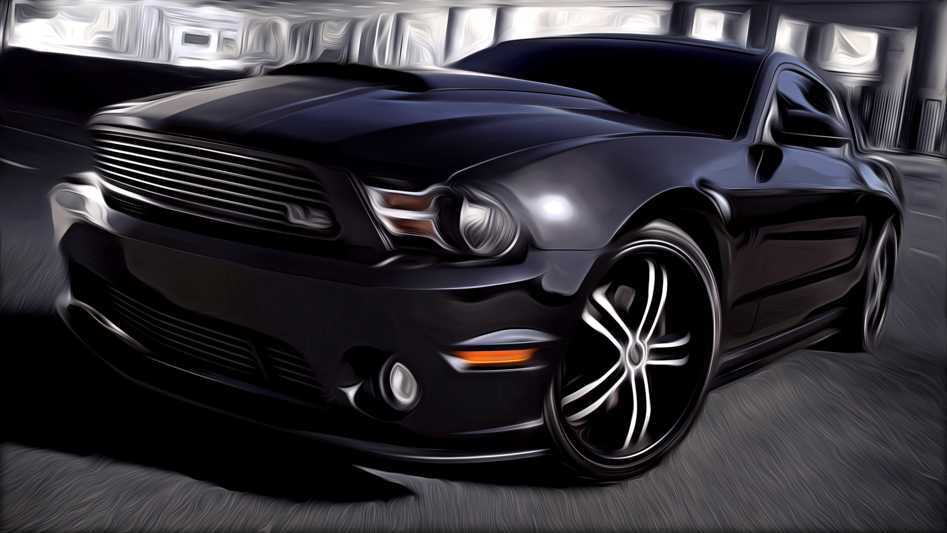 Ford Mustang Painted
