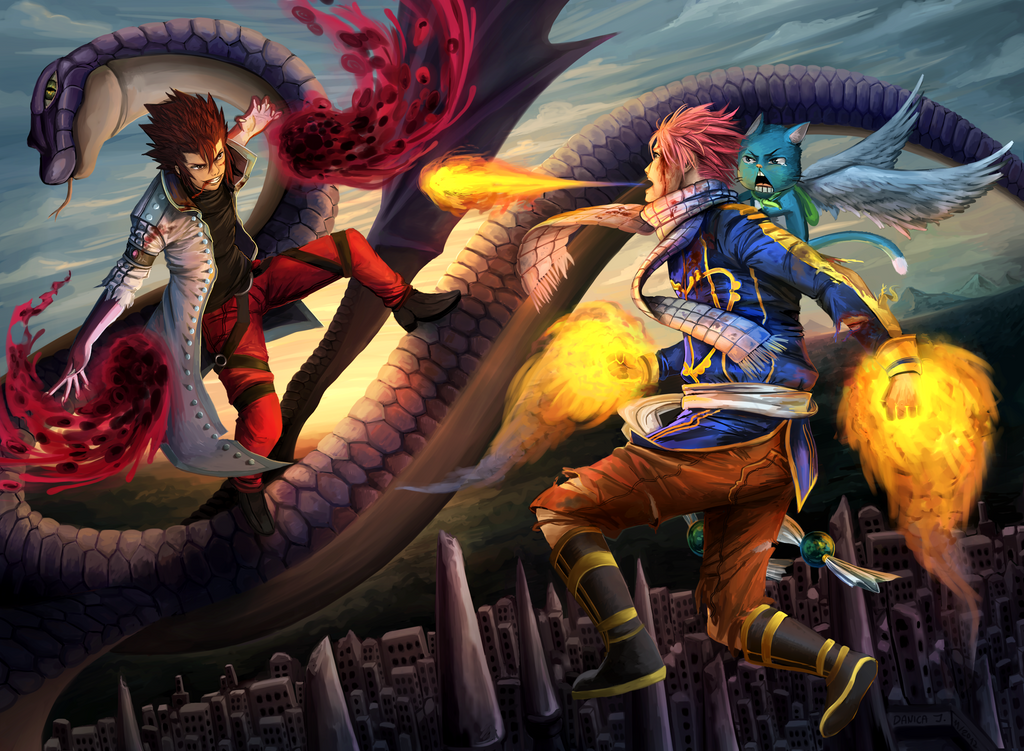 Dragonslayer battle over the holy city of Nirvana by dacadaca
