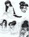 Inuyasha Doodles by AlexandriaMonik