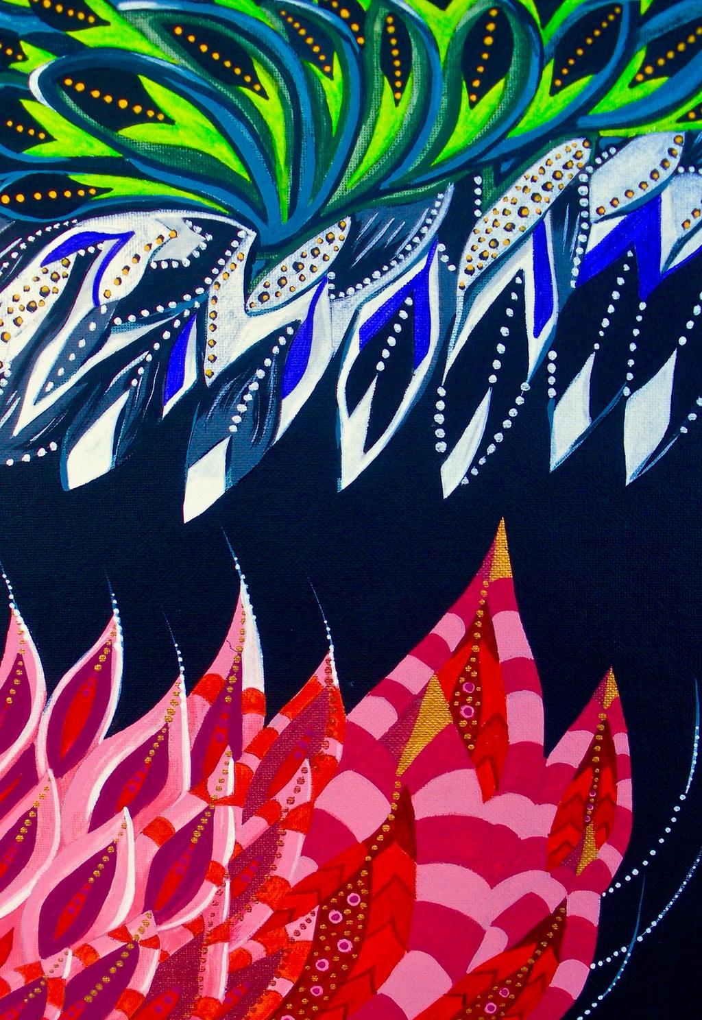 Magpie and Flamingo