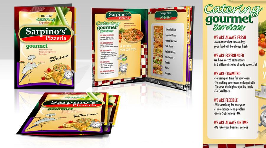 Catering menu Sarpino's by azularts