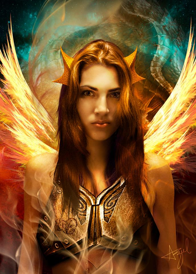 Estefania Dragon Warrior by azularts