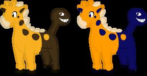 203 - Girafarig Normal and Shiny