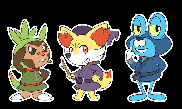Pokemon Crossing Gen 6 Starters