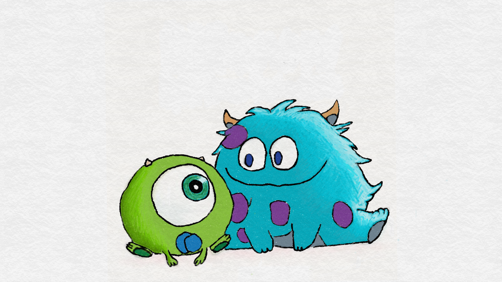 how to draw sulley from monsters inc easy