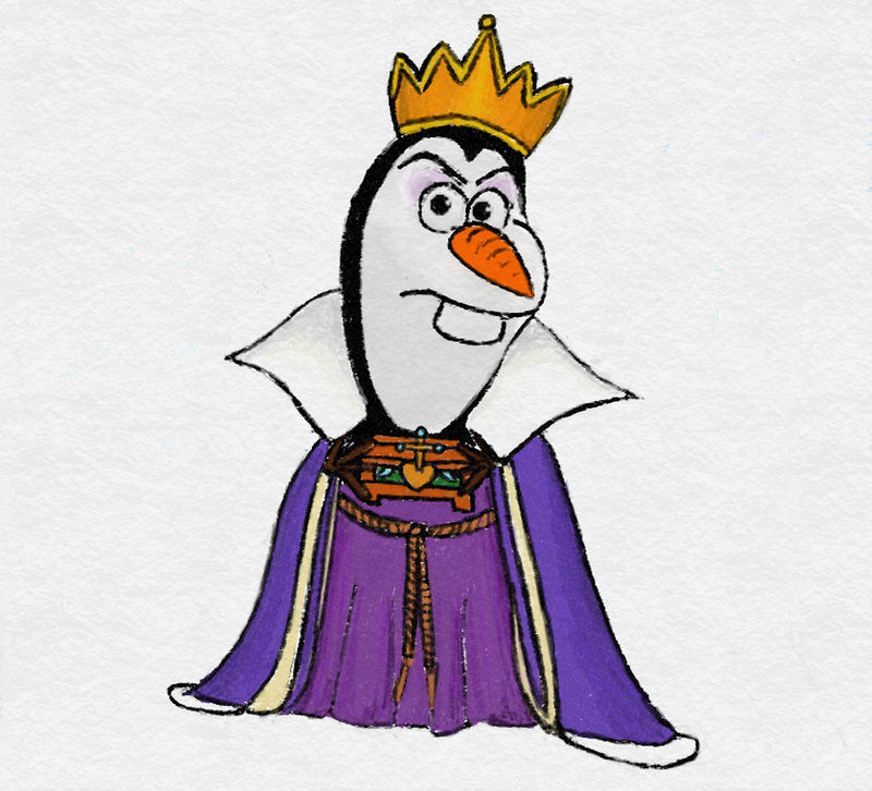 Olaf as the Evil Queen from Snow White