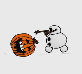 Olaf Halloween Style! by TortallMagic