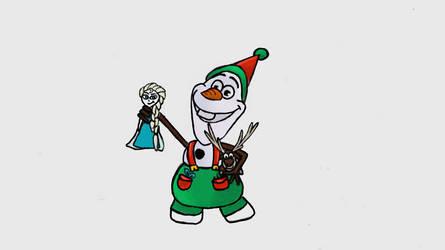 Olaf, Santa's little helper! by TortallMagic