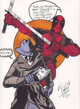 Rorschach and Deadpool