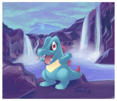 Totodile by Tikalie-Wolf