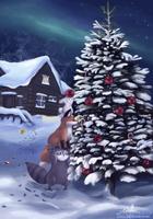 StupidFox Christmas by Tikalie-Wolf