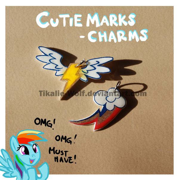 Cutie mark charms by Tikalie-Wolf