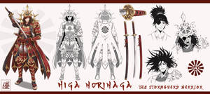 Higa Norinaga Character Reference Sheet
