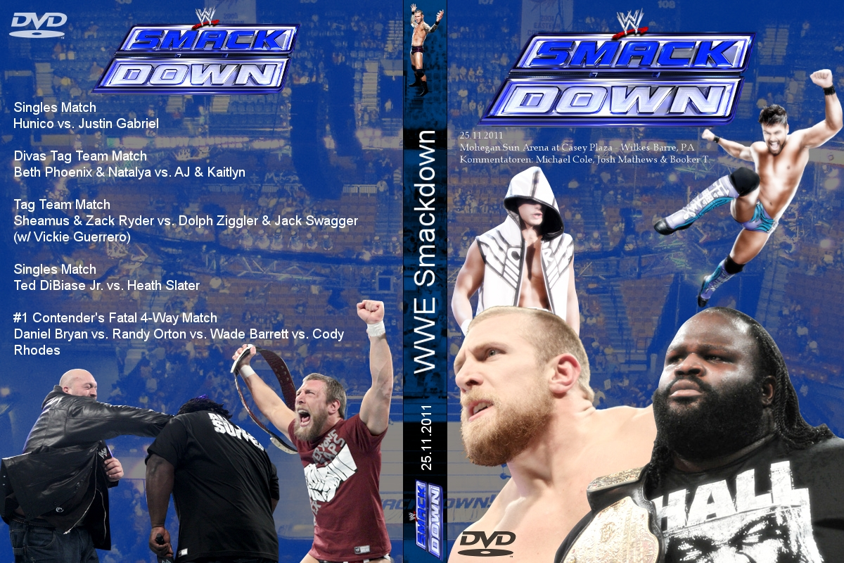 Smackdown 11 25 11 DVD Cover By TobyReen On DeviantArt