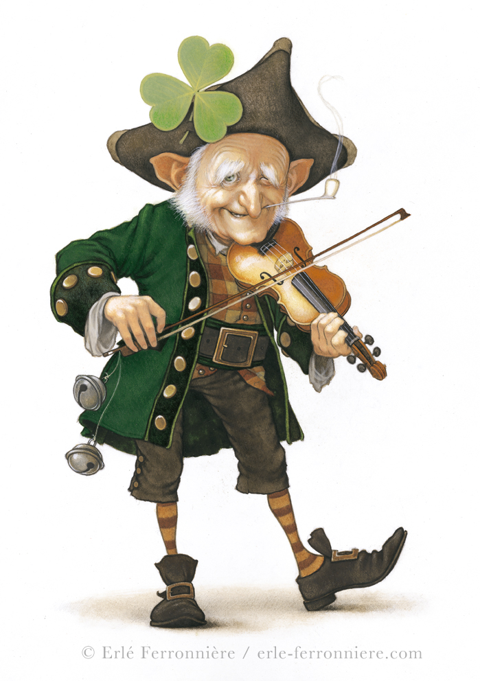 Leprechaun fiddler by Ferronniere