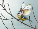 The faery and the blue tit (painting)