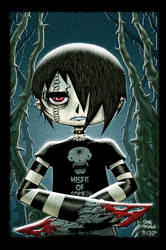 Emo dead boy colored by Dany-Morales