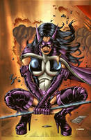 Huntress by madman1 colored by Dany-Morales