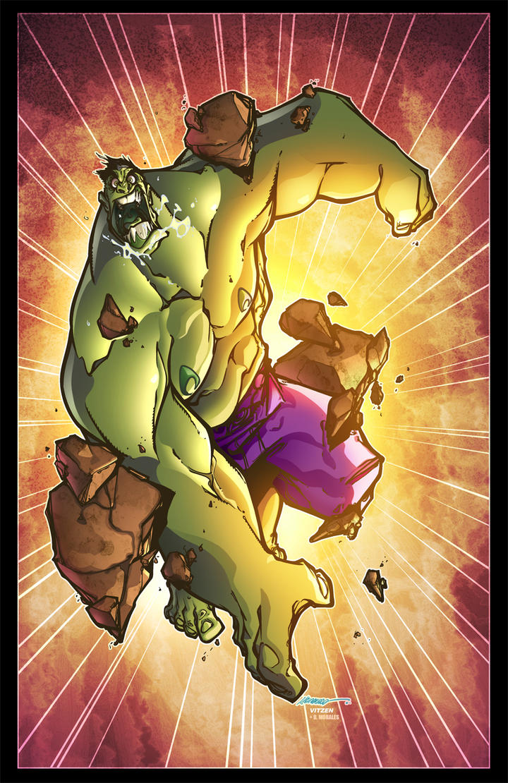 Hulk by F Herrera colored by Dany-Morales