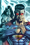 Supes and wonder woman colors