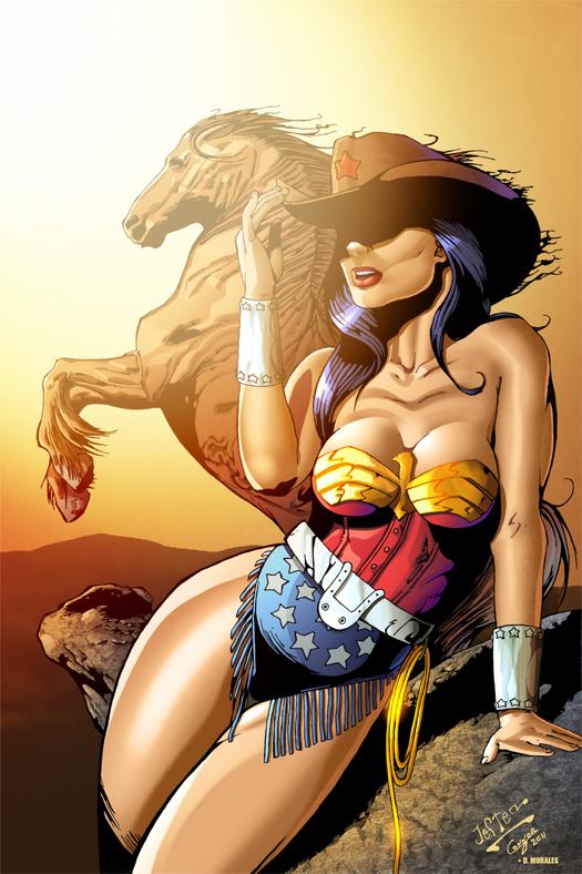 Cowgirl Wonder Woman colored by Dany-Morales