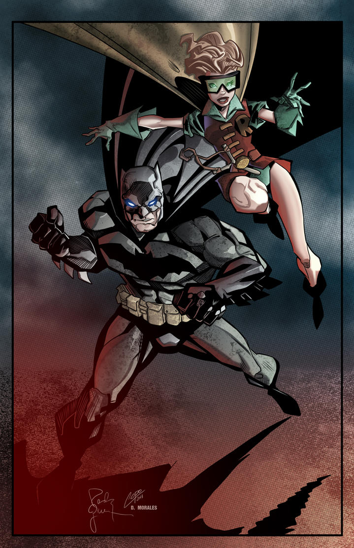 Batman and Robin by Randy Green colored by Dany-Morales