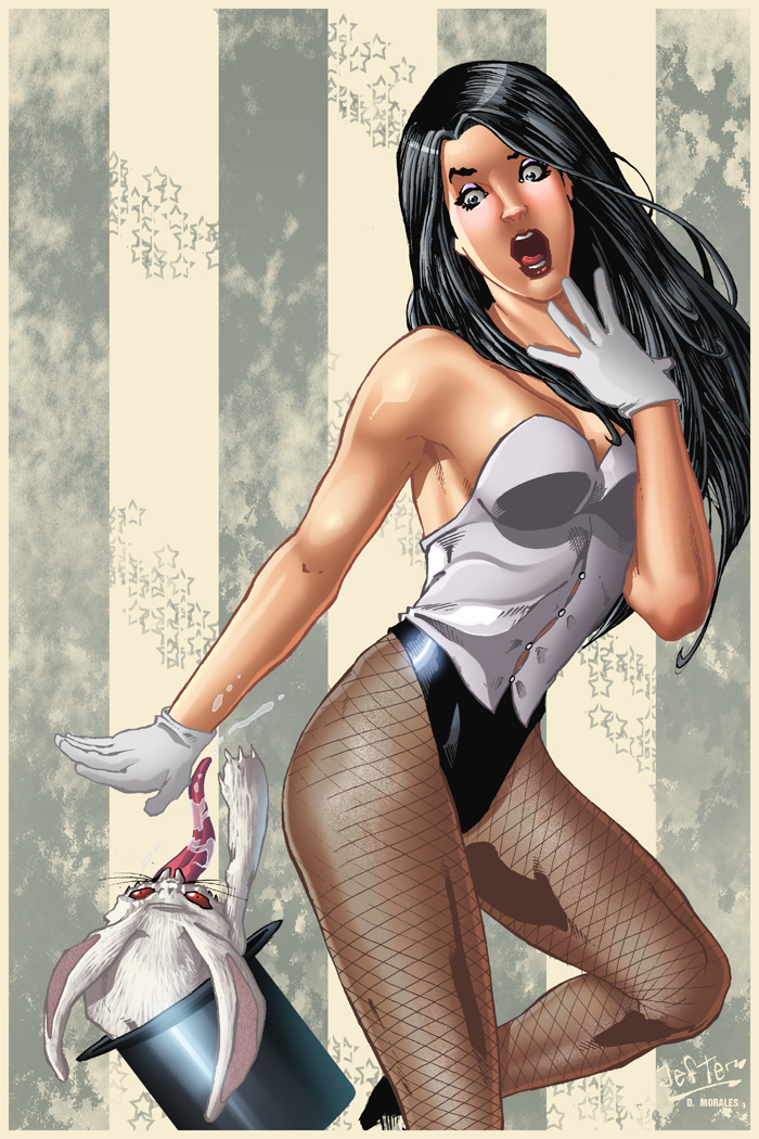 Zatanna and her magic trick gone wrong by Dany-Morales