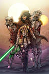 Jedi Michonne and her ST zombie pets