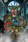 TMNT poster print by Puis Calzada colored