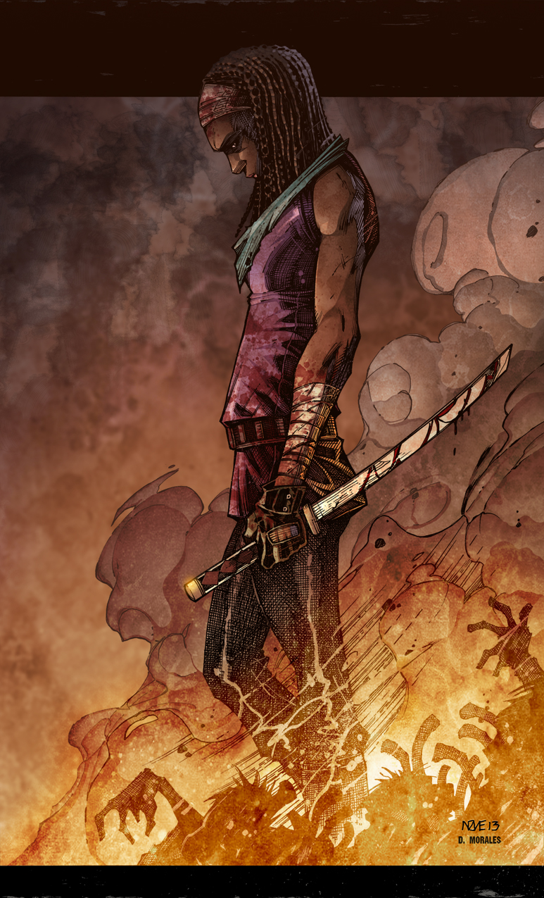 Michonne by Oliver Nome colored by Dany-Morales