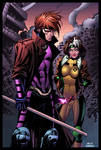 Gambit and Rogue by Oliver Nome colored