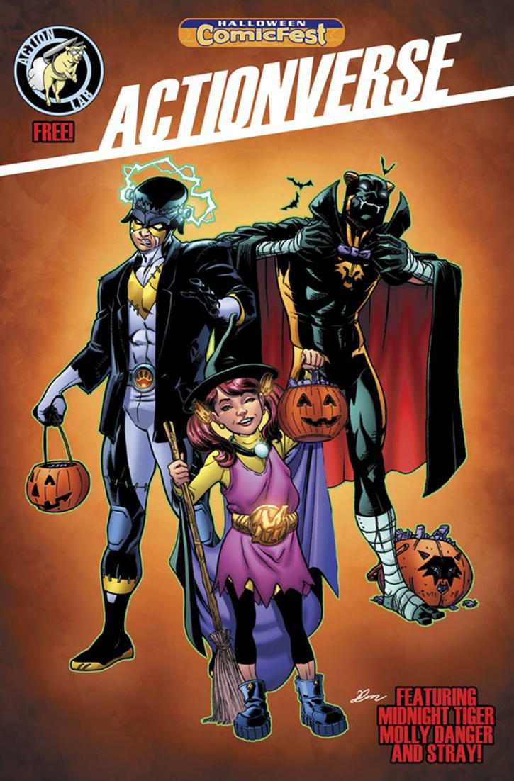 Actionverse issue #0 Halloween Cover colored by Dany-Morales