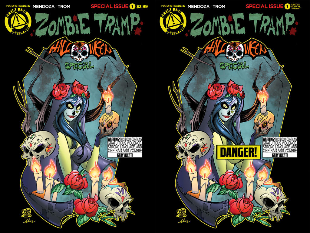 Zombie tramp Halloween special covers by Dany-Morales