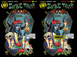 Zombie tramp Halloween special covers