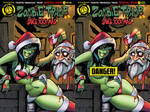 Zombie tramp Saves XXX-mas special covers