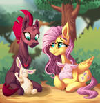 Tempest with Fluttershy