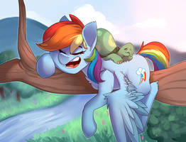 Resting on the tree by PassigCamel