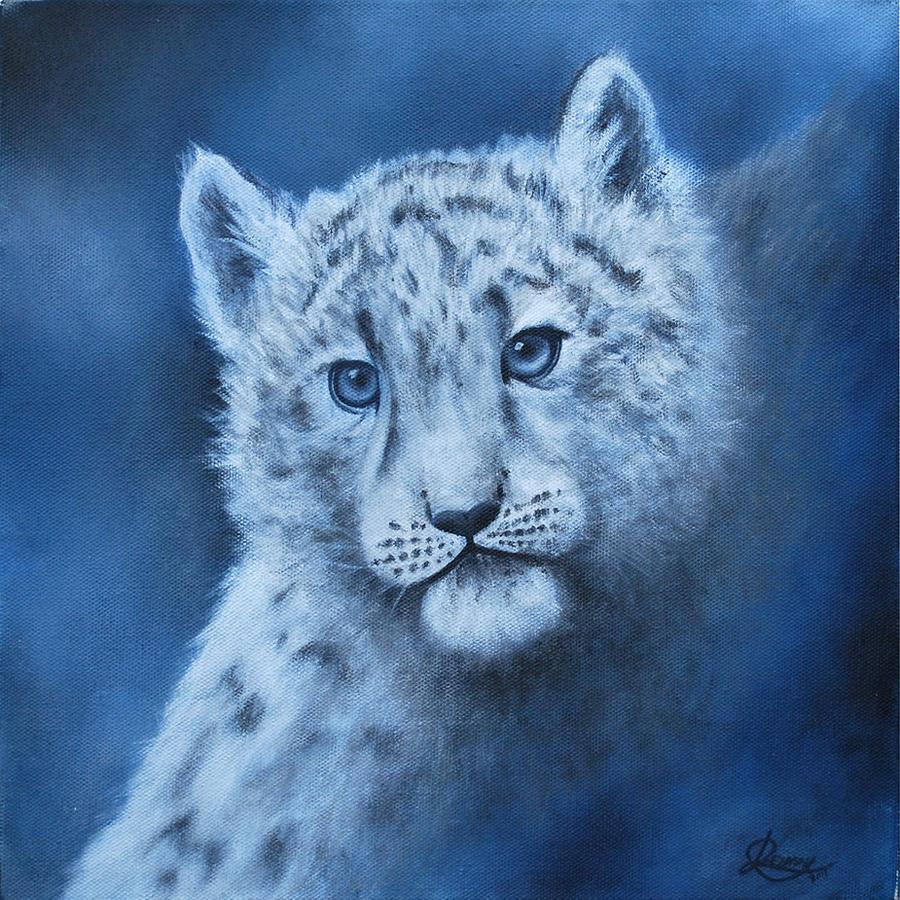 Snow Leopard Cub by Jennyjzlei
